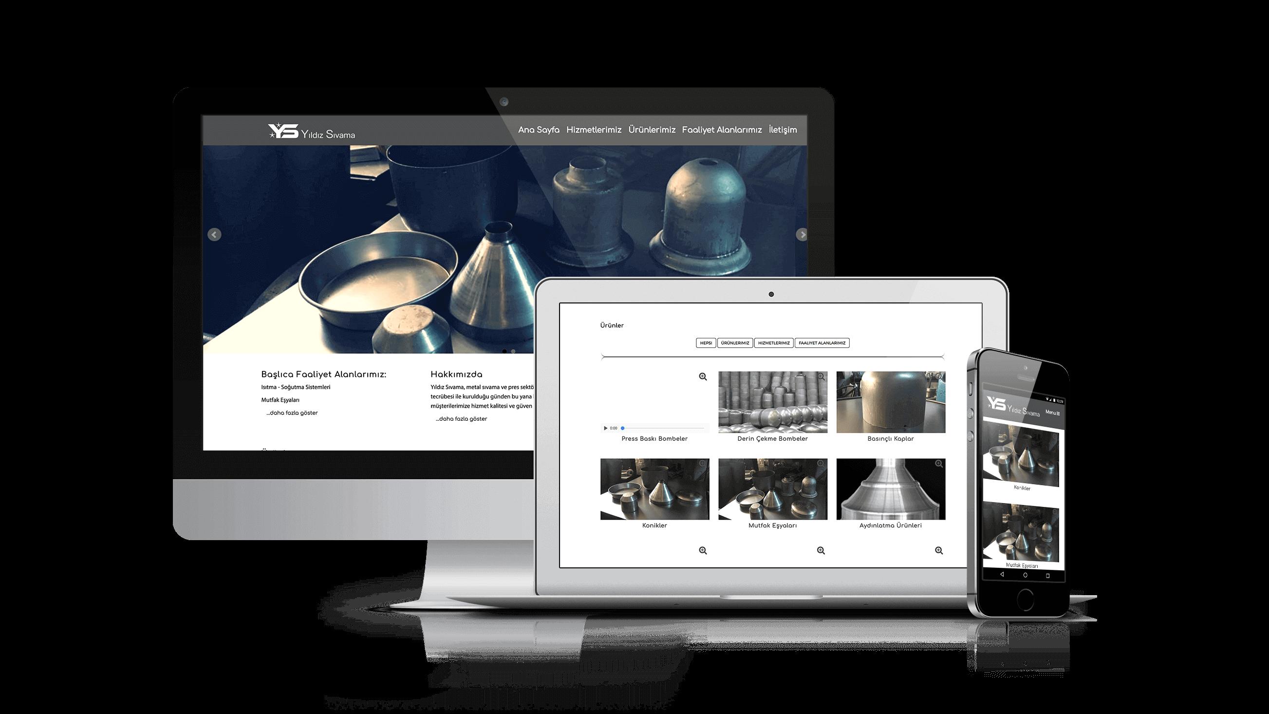 Yıldız Sıvama Web Sitesi Canlı Örneği