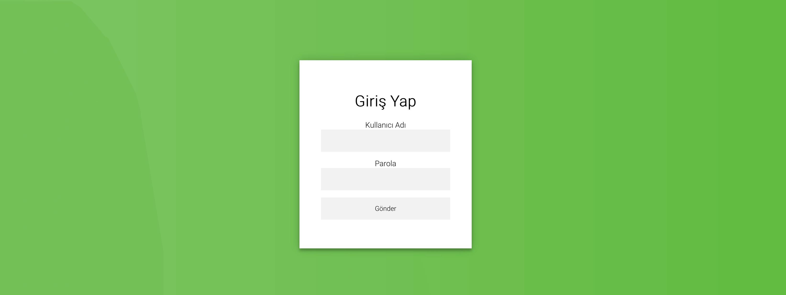Web Tasarım Giriş Ekranı